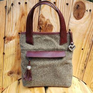 Brighton Brown and Beige Handbag 9x9x5